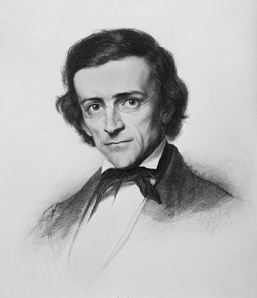 Louis Jacoby's 1863 sketch of Mommsen